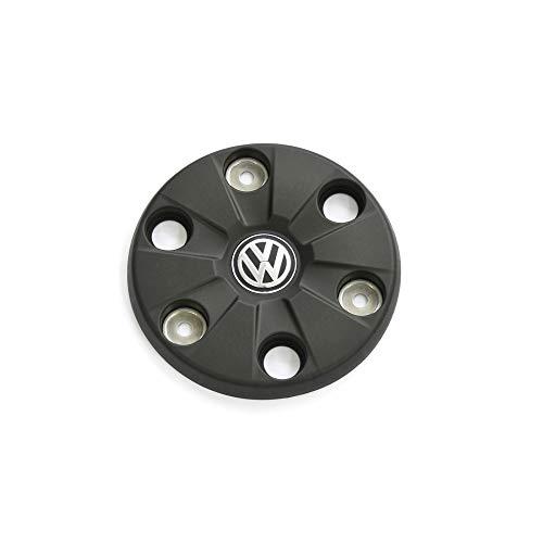 Volkswagen 2N0601151ALDO Radzierkappe (1 Stück) Radabdeckung 16 Zoll Nabenkappe Radnabenkappe, satinschwarz