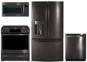 GE Profile 4-Pcs Kitchen Package with PFE28KBLTS 36