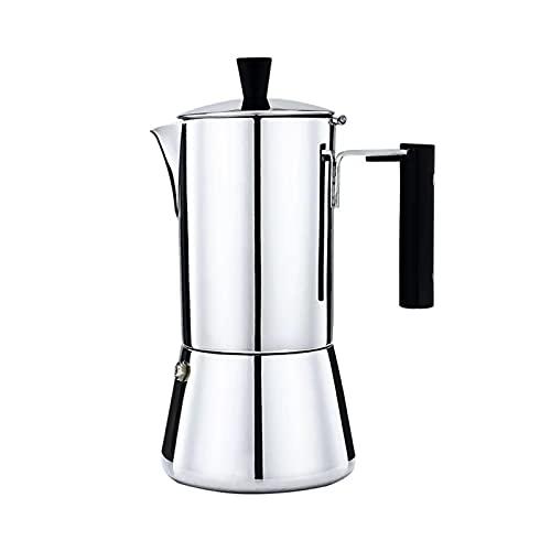 NEW MEI Ekspres do kawy Moka garnek Ze Stali Nierdzewnej Pier Kawy Ekspresy 30 0ml.Nadaje się do ogrzewania gazu indukcyjnego (Color : 300ML Nylon Handle)