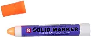 Sakura Solidified Paint Solid Marker, Fluorescent Orange (Box Of 12)