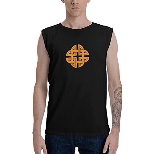 N //A Celtic Knot Men's Tank Tee Training Sports Sleeveless T Shirt Sleeveless Gym Workout Tank Top Black