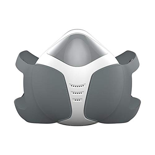 Seasaleshop Mascaras Anti-Polvo Máscara Antipolución Máscara Eléctrica Inteligente,Máscara Anti-Vaho Recargable USB, para Evitar Que el Smog y los Gases Tóxicos Entren al Cuerpo