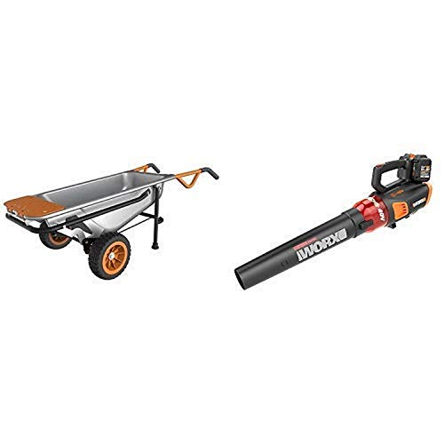 WORX WG050 Aerocart 8-in-1 All-Purpose Wheelbarrow/Yard Cart/Dolly, 18