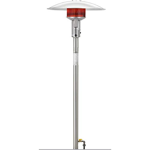 Affordable Permanent Natural Gas Patio Heater Finish: Black