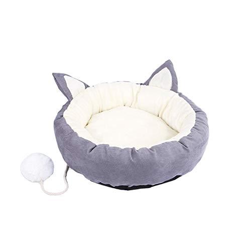 Xiton Hundebett Super Soft Pet Schlafsofa Angebote Kopf-Hals-und Joint Support Premium-Bettwäsche für Katzen oder kleine Hunde Grau M