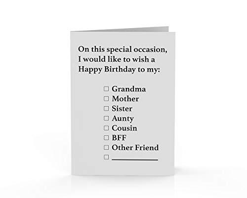 Stem om de wereld te redden - de originele blanco Cad - gelukkige verjaardag haar - A6 Single Card