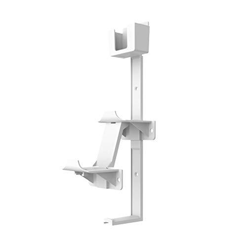TISHITA Controlador y soporte de suspensión de auriculares soporte de montaje en pared soporte de almacenamiento organizador soporte de pared para PS4 PS3 - Blanco