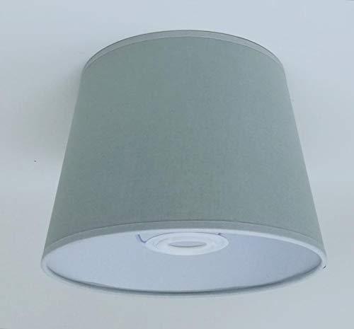 Abat-jour en tissu de coton gris crème 20,3 cm