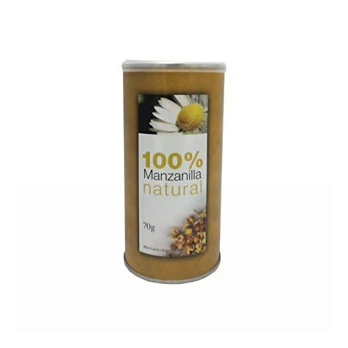 LA TETERA AZUL Manzanilla Natural. Infusión Digestiva a Granel. Bote De 70 Gramos.