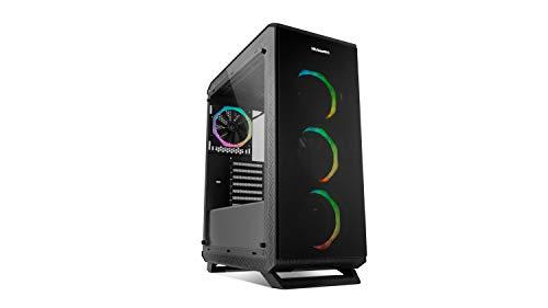 Nox Hummer TGF -NXHUMMERTGF- Caja ARGB ATX-Micro ATX-ITX, panel cristal templado, 4 ventiladores 120mm ARGB Rainbow preinstaldos, espacio hasta 6 ventiladores, USB 3.0, color negro