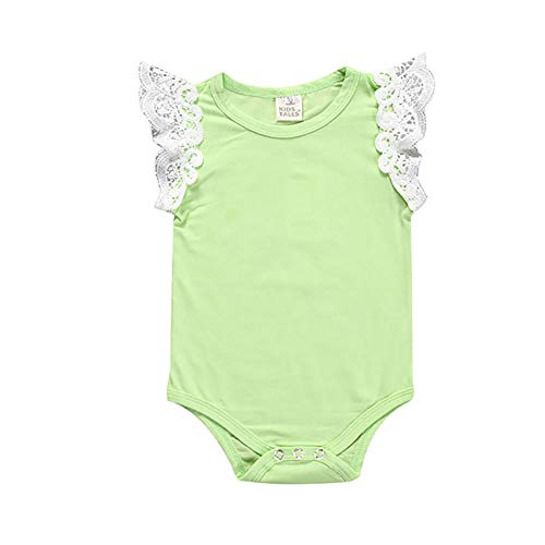 Explosion Modelle Kinderkleidung Sommer Modelle Bonbon Farbe Spitze Fliegende Ärmel Baby Robe Strampler