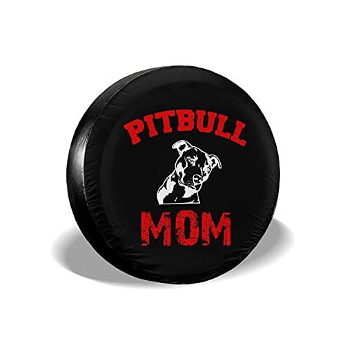 NA- Housse de Roue mamá Pitbull Funda para Neumáticos Cubierta para Rueda de Repuesto Protección Bolsa de Almacenamiento 14 15 16 395 Pulgadas Auto Coche Vehiculos