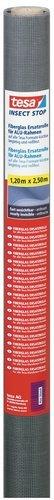 tesa Insect Stop Fliegengitter Ersatzrolle aus Fiberglas-Gewebe für tesa ALU COMFORT Mückennetz Fenster & Tür - Ersatz-Rolle 120cm x 250cm, anthrazit