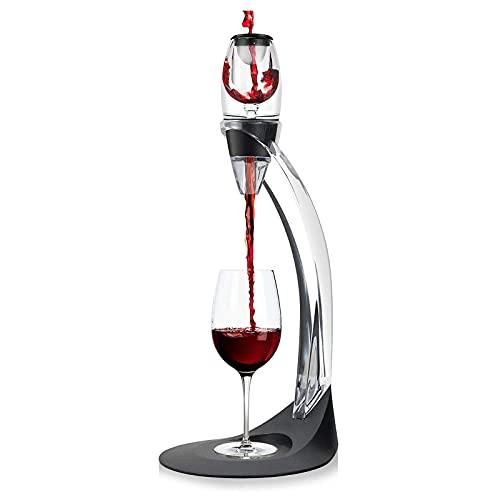 CHUNGEBS Aireador de Aire de Vino, Vino de Vino y Juego de Stands de decantación, dispensador de vinos, decantador de aireador de Vino para oxigenar y decantar Vino Tinto.