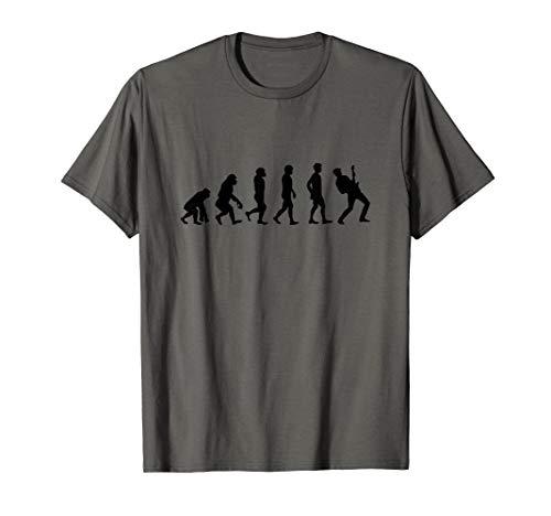 Evolution Gitarre | Gitarrenspieler, E-Gitarre, Rock Band T-Shirt