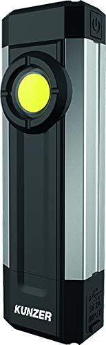 KUNZER (PL-041) Arbeitslampe Dimmbar - Werkstatt-Taschen-Leuchte mit Powerbank - 500lm Lichtstärke und 8h Leuchtdauer