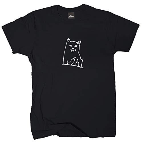 Wolkenbruch® T-Shirt Schmuse Katze, schwarz, Gr.4XL