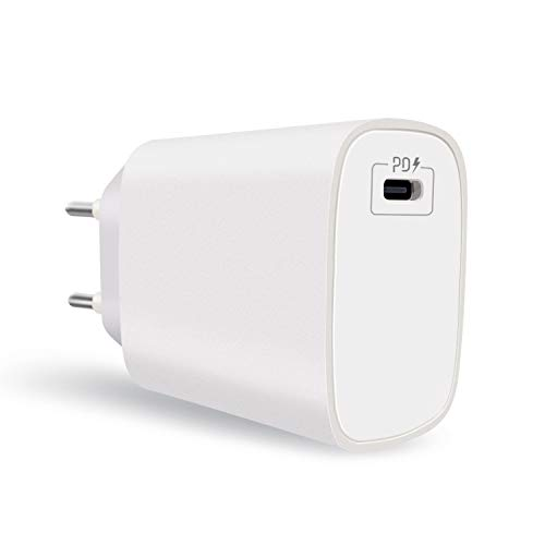 Cargador USB tipo C, PD 20 W Cargador USB C Power Delivery 3.0 Carga rápida para Samsung Galaxy S21 S20 Plus Ultra S10 S10E S9 S8 Note 10, Xiaomi Redmi Note 9 Pro, iPhone 12 Mini Pro Max, iPad Pro