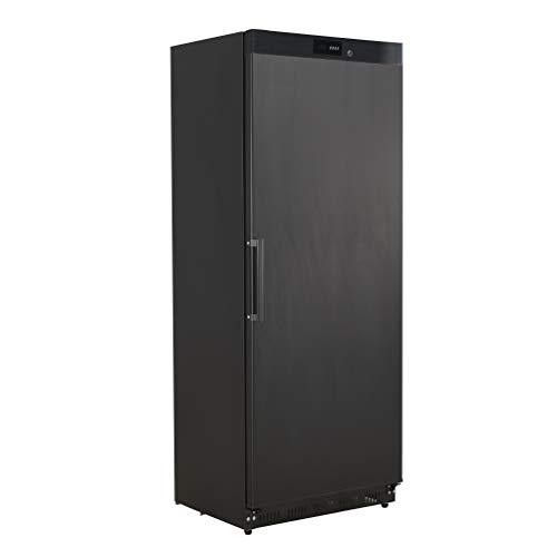 ZORRO - Lagerkühlschrank ECO600R - Schwarz - Gastro Kühlschrank mit Volltüre - R600A - Digitales Thermostat