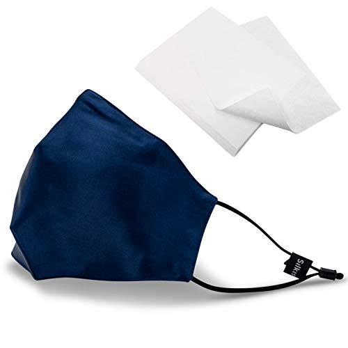 SILKIST Unisex Mundschutz Maske 100% Seide 3-lagiger Mund- & Nasenschutz [Verstellbare Ohrschlaufen & Nasenbügel] Wiederverwendbar, Atmungsaktiv & Hautfreundlich - Jetzt Farbe wählen