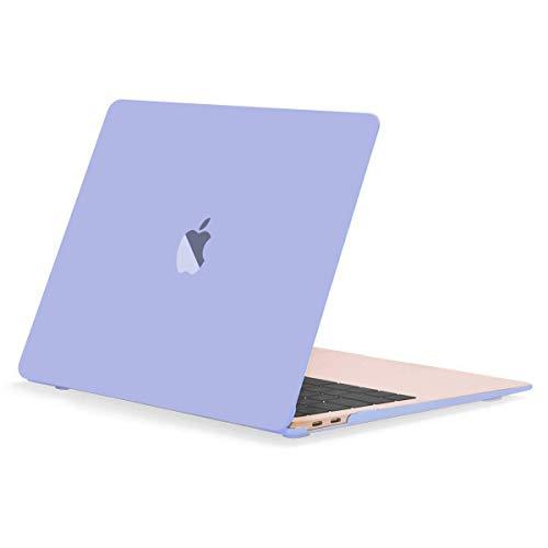 "TOP CASE MacBook Air 13 Inch Case 2019 2018 Release A1932 Retina Display, Classic Series Rubberized Hard Case Compatible MacBook Air 13"" with Retina Display fits Touch ID Model: A1932 - Serenity Blue"