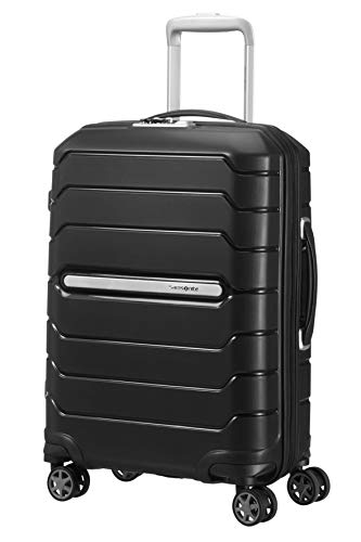 Samsonite Flux Spinner S Bagaglio a Mano Espandibile, 55 cm, 44 L, Nero (Black)