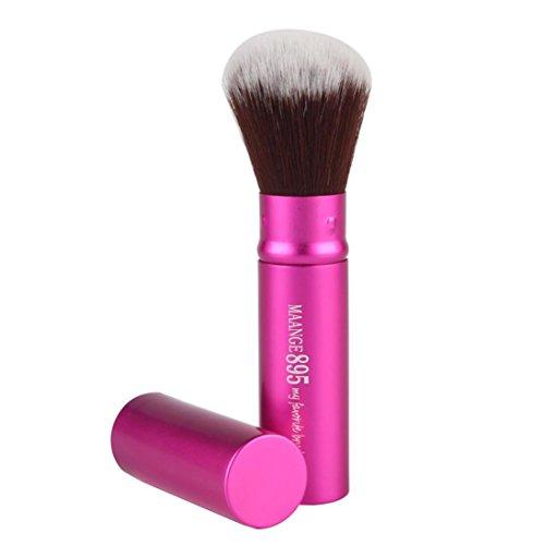 Fulltime® 1pc Cosmétique maquillage pinceaux brosse de fard à paupières poudre Fondation (Rose vif)