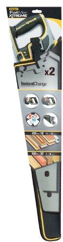 Stanley FatMax Pro Instantchange Sägen Set (unbeschichtet, feine und grobe Zahnung, 450-500 mm Länge) 2 Stück, 0-20-236