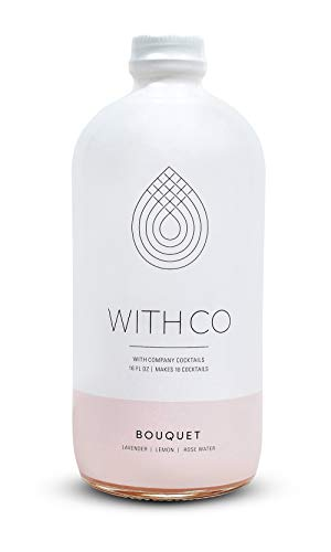 WithCo Bouquet Gimlet Cocktail Mixer with Lemon, Lavender, and Rosewater Makes 10 Drinks Just Add Gin, Vodka or Tequila