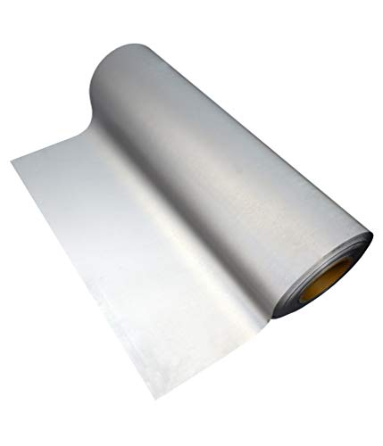 Vinile termoadesivo riflettente per tessuti Heat transfer Vinyl 50cm x 1m (Argento)
