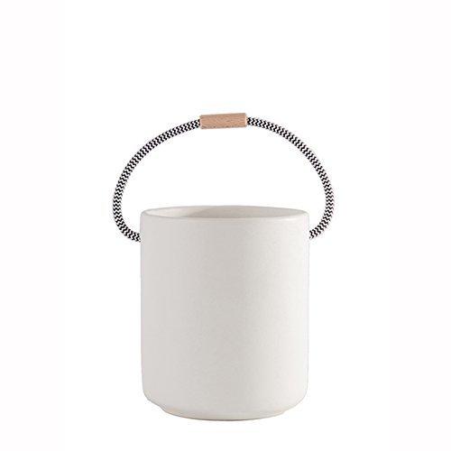 Bubani Grand pot en céramique Blanc