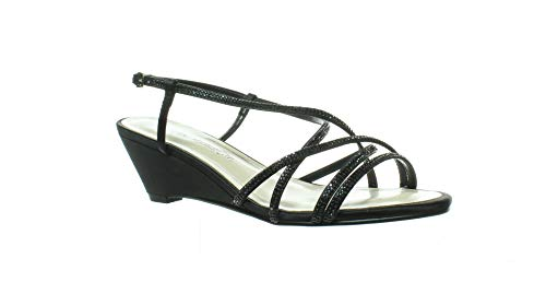 Caparros Womens Leighton Black Sandals Size 7.5 (Wide)