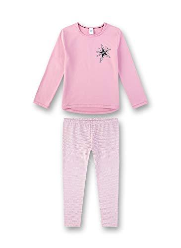 Sanetta Mädchen Pyjama Zweiteiliger Schlafanzug, Rosa (Rosewood 38085), (Herstellergröße: 140)