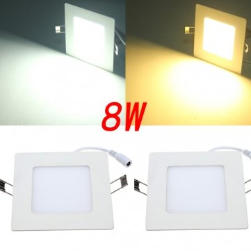 Hohe Qualität 8W Platz Deckenverkleidung Weiß / Warm White LED-Beleuchtung AC 85 ~ 265V - Cool White