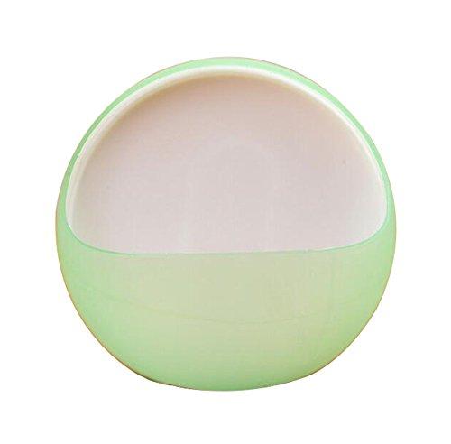 Vikenner Seifenschale Saugnapf Seifenablage Ohne Bohren Seife Box Kunststoff im Halbkreis Design für Bad Dusche Küche Grün