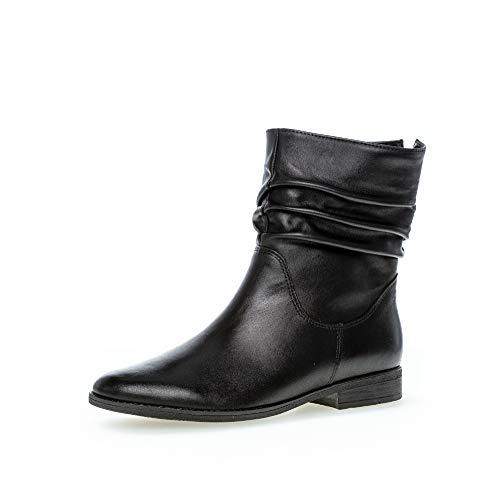 Gabor Damen Stiefeletten, Frauen Klassische Stiefelette,Reißverschluss, Freizeit leger Stiefel Boot halbstiefel damenstiefel,schwarz,38 EU / 5 UK