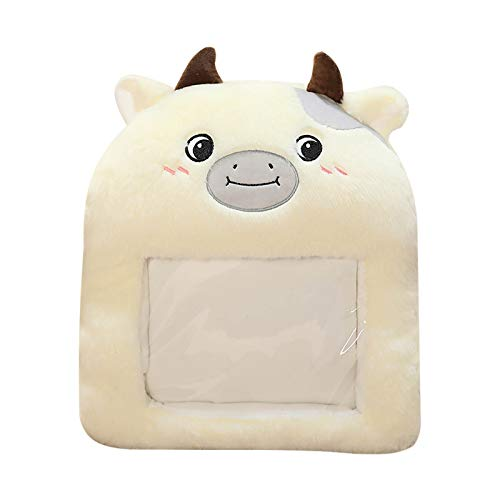 minjiSF Warm Hands Cushion for Unisex Cotton Plush Cute Cartoon with Empty Hot Water Bottle Warm Gift Winter Indoor 40 x 30 cm - Multicolour - Onesize
