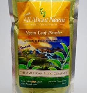 Neem Leaf Powder, Pure Bulk, Fresh Cut (1 Lb) Make Your Own Capsules - Natural Raw Herb Super Food Supplement - for Health...