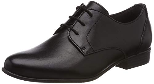 Tamaris Damen 1-1-23218-22 Brogues, Schwarz (Black Leather 3), 39 EU