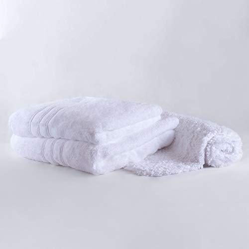 Chantarole - Juego de Toallas baño Grandes: 1 Toalla de baño + 1 Toalla Manos + 1 Alfombra baño; Toallas Blancas Algodon; Toallas Hotel (Blanco, 3)