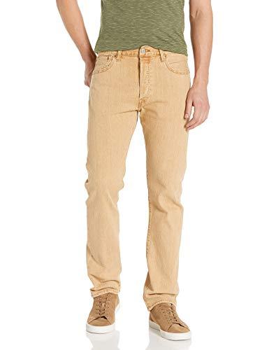 Levi's 501 - Pantalones vaqueros de ajuste original para hombre - Amarillo - 40W x 34L