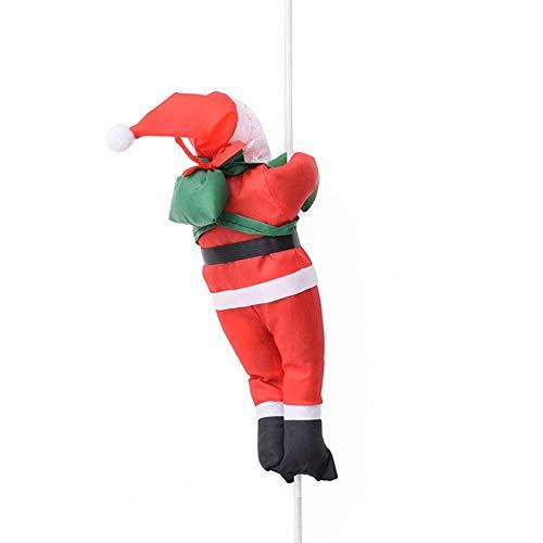 Navigatee Decoración De Papá Noel, 30cm Escalera Subiendo La Cuerda De Santa Claus Decoraciones De Navidad De Santa Claus Muñeca Colgante Conveniente para La Puerta, Uso Interior Y Exterior