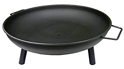 Auoeer Large Fire Pit, Black Cast Iron Brazier Heater, Multifunctional Camping Bowl BBQ, For Indoor Outdoor Garden Patio Grill Wood Charcoal by Auoeer