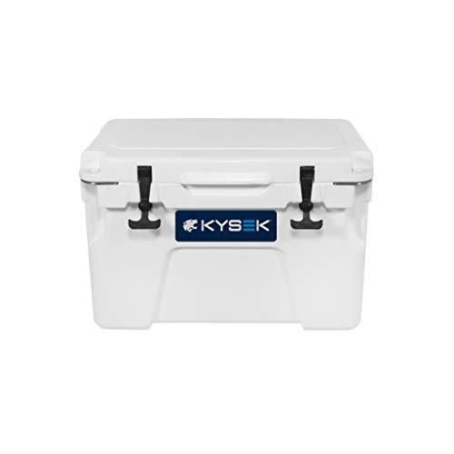 KYSEK The Ultimate Ice Chest Extreme Cold Cooler, Marine White, 25 Liter