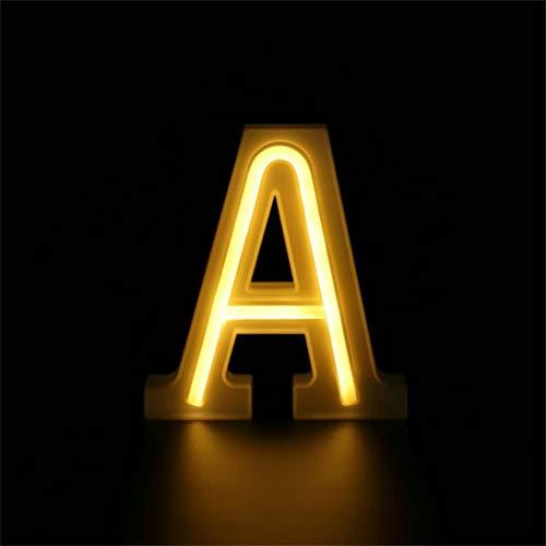 LEEDY 26 Englisch Buchstabenleuchten LED-Batterie USB-Licht Buchstaben Alphabet Kreative Nachtlampe Dekor für Home Party Bar Hochzeitsfest Dekorative-von A bis Z