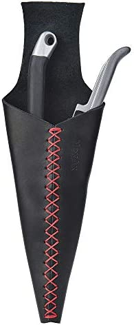 NexAx Pruning Shear Sheath Hand Pruner Leather Holster Pouch Garden Scissor Holder with Red product image
