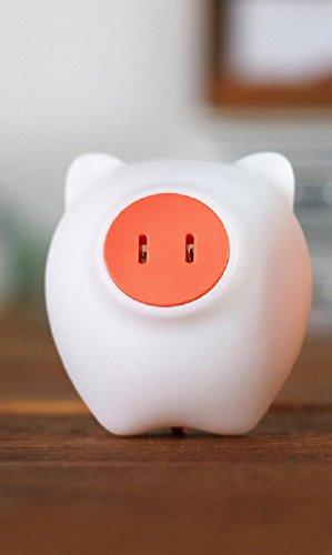 Lampes de Bureau Lampe de Table Fonctions de Cochon Nez Intelligent LED Light Control Capteur Prise veilleuse, White
