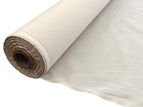 AK TRADING CO. AK Trading 60' Wide Natural Muslin, 100% Cotton Fabric, Unbleached-5 Yards