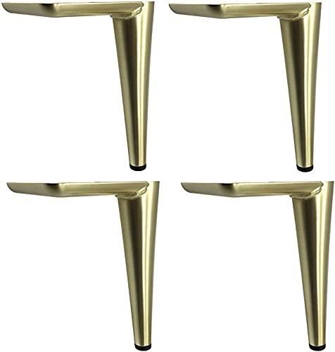 ZXLRH Juego de 4 Patas de Muebles, Patas de Metal para Muebles, Patas de Armario de Hierro, Repuesto para sofá, Mesa, Cama, armarios de TV, Patas de diseño Moderno y Elegante, con Tornillos