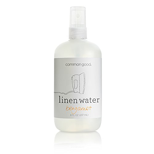 Common Good - Linen Water, Reduces Wrinkles and Refreshes Clothes and Furniture, Biodegradable Formula, No Parabens or Sulfates, Leaping Bunny Certified (Bergamot Scent, 8 ounces)